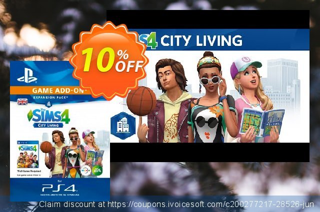 The Sims 4 - City Living Expansion Pack PS4 令人惊讶的 促销 软件截图