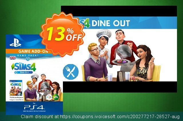 The Sims 4 - Dine Out Game Pack PS4 discount 13% OFF, 2020 Back to School deals offering sales