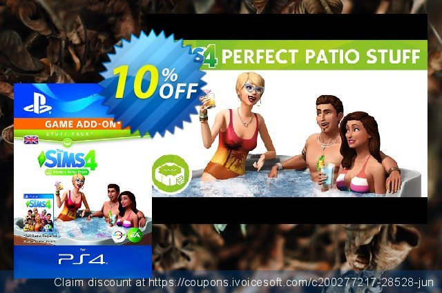 The Sims 4 - Perfect Patio Stuff PS4  최고의   세일  스크린 샷
