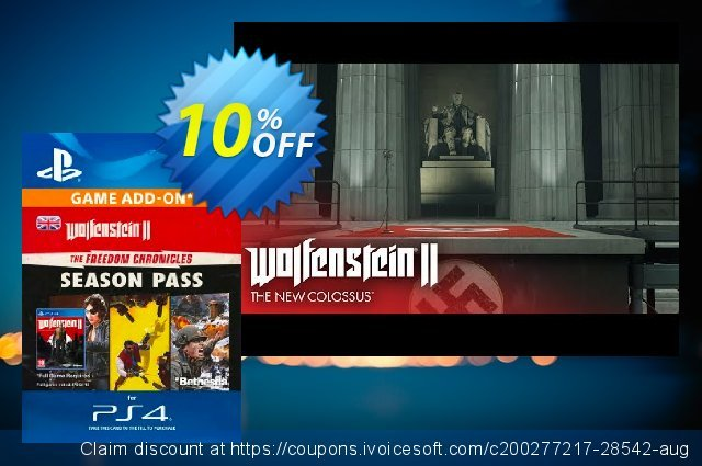 Get 10% OFF Wolfenstein II 2: The Freedom Chronicles Season Pass PS4 deals