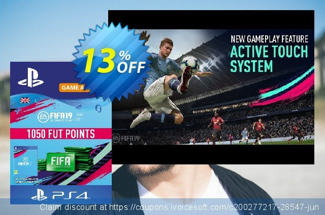 1050 FIFA 19 Points PS4 PSN Code - UK account  놀라운   매상  스크린 샷
