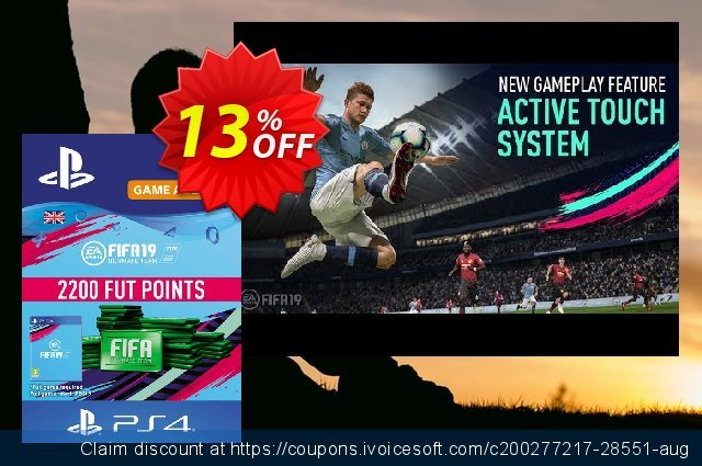2200 FIFA 19 Points PS4 PSN Code - UK account  경이로운   세일  스크린 샷