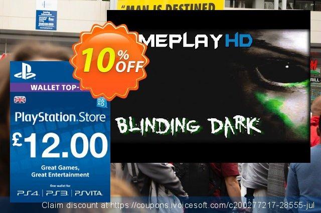 PlayStation Network Card - £12 (PS Vita/PS3/PS4) 令人吃惊的 产品销售 软件截图