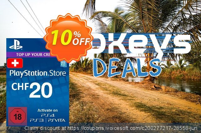 PlayStation Network (PSN) Card - 20 CHF (Switzerland) discount 10% OFF, 2020 University Student deals discounts