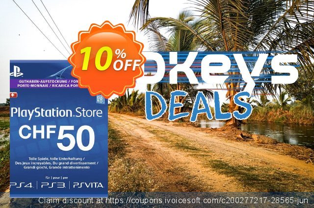 PlayStation Network (PSN) Card - 50 CHF (Switzerland) discount 10% OFF, 2020 Thanksgiving Day promo sales