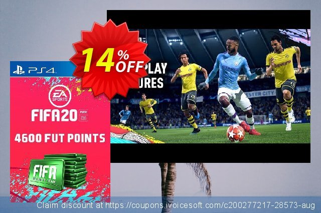 4600 FIFA 20 Ultimate Team Points PS4 (Switzerland) 壮丽的 产品交易 软件截图