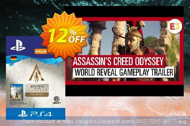 Assasins Creed Odyssey Season Pass PS4 (Germany)  멋있어요   세일  스크린 샷