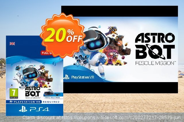 Astro Bot Rescue Mission VR PS4 discount 20% OFF, 2021 Halloween deals. Astro Bot Rescue Mission VR PS4 Deal