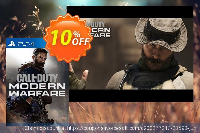 Call of Duty: Modern Warfare PS4 (EU) discount 10% OFF, 2020 Black Friday offering sales
