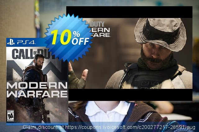 Call of Duty: Modern Warfare PS4 (UK) 可怕的 促销 软件截图