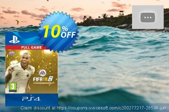 FIFA 18: ICON Edition PS4 UK discount 10% OFF, 2021 4th of July offering sales. FIFA 18: ICON Edition PS4 UK Deal