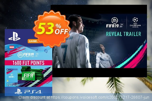 Fifa 19 - 1600 FUT Points PS4 (Austria) discount 53% OFF, 2021 American Independence Day promo sales. Fifa 19 - 1600 FUT Points PS4 (Austria) Deal