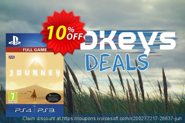Journey PS4 - Digital Code discount 10% OFF, 2020 Thanksgiving Day discount