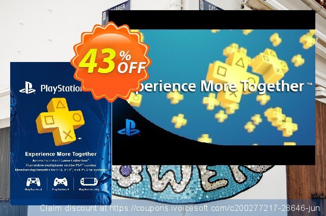 1-Year PlayStation Plus Membership (PS+) - PS3/PS4/PS Vita (Canada) discount 43% OFF, 2020 College Student deals offering sales