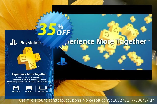 3 Month Playstation Plus Membership (PS+) - PS3/ PS4/ PS Vita Digital Code (Canada) discount 35% OFF, 2020 College Student deals offering sales