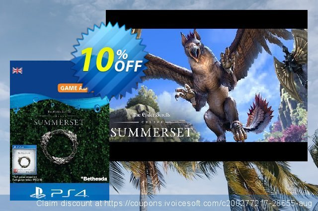 The Elder Scrolls Online: Summerset Upgrade Edition PS4 (UK) 令人敬畏的 促销 软件截图