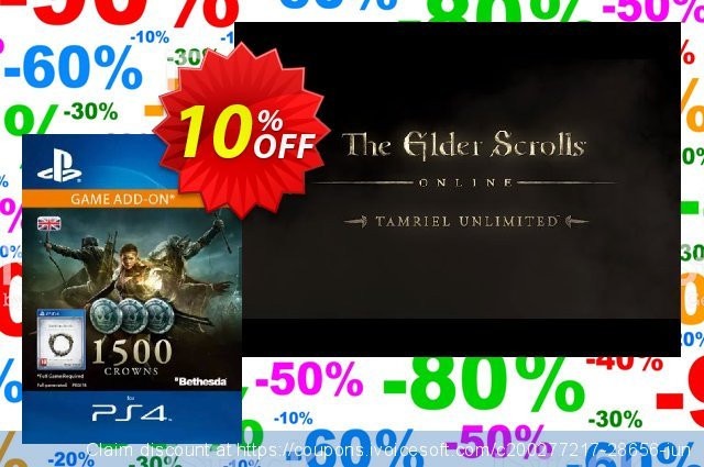 The Elder Scrolls Online: Tamriel Unlimited - 1500 Crowns PS4 (UK) toll Beförderung Bildschirmfoto