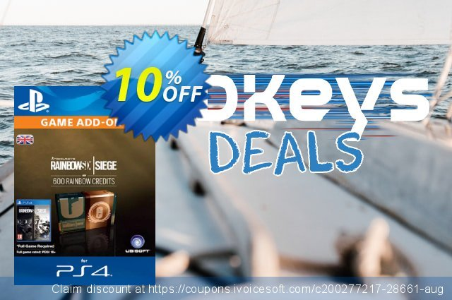 Tom Clancy's Rainbow Six Siege 600 Credits Pack (UK) discount 10% OFF, 2020 Thanksgiving Day promo