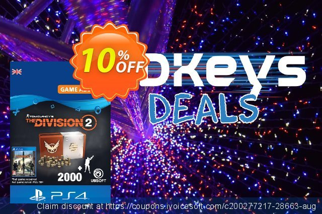 Tom Clancy's The Division 2 PS4 - Welcome Pack discount 10% OFF, 2020 Halloween offering sales