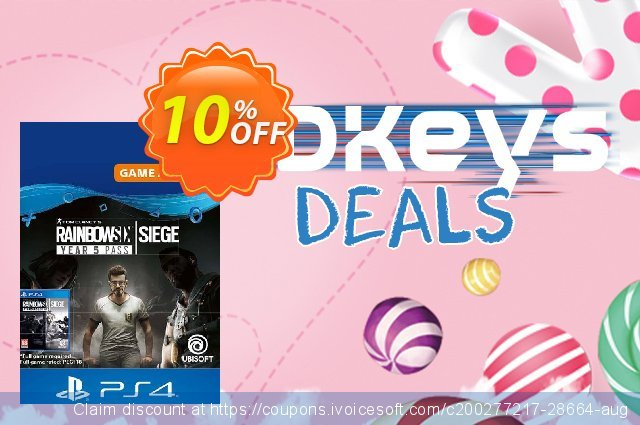 Tom Clancys Rainbow Six Siege - Year 5 Pass PS4 (Germany) discount 10% OFF, 2020 Teacher deals offering sales