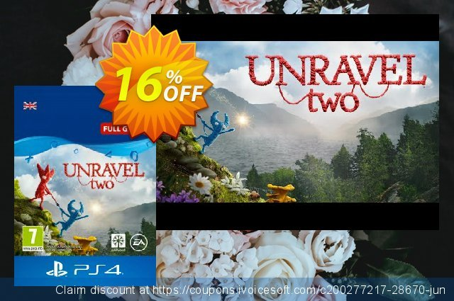Unravel Two 2 PS4 激动的 优惠 软件截图
