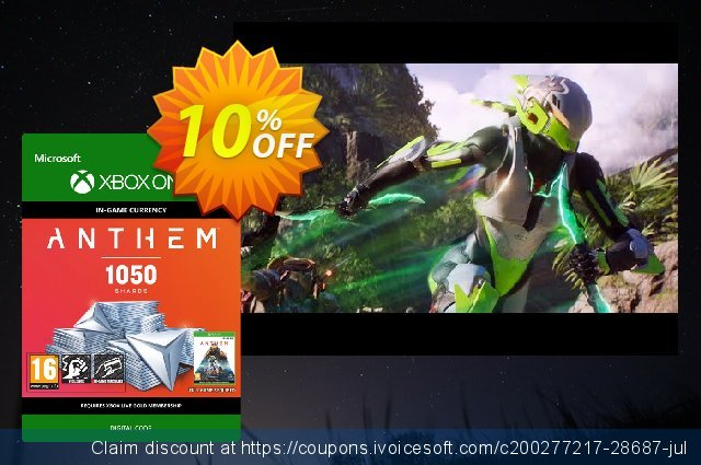 Anthem 1050 Shards Pack Xbox One discount 10% OFF, 2021 4th of July offering sales. Anthem 1050 Shards Pack Xbox One Deal