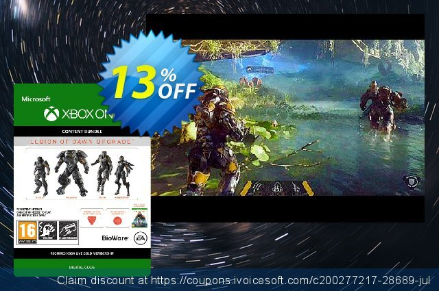 Anthem Legion of Dawn Upgrade Xbox One discount 13% OFF, 2020 College Student deals offering sales