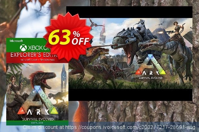 ARK Survival Evolved Explorers Edition Xbox One (UK) discount 63% OFF, 2020 Thanksgiving Day sales
