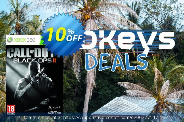 Call of Duty (COD): Black Ops II 2 Xbox 360 - Digital Code discount 10% OFF, 2021 World Population Day discount. Call of Duty (COD): Black Ops II 2 Xbox 360 - Digital Code Deal