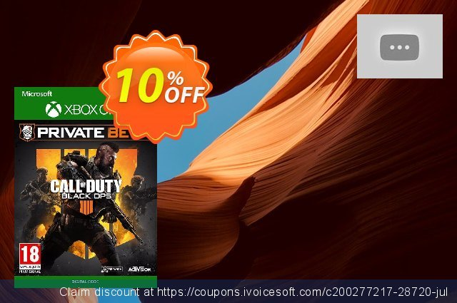 Get 97% OFF Call of Duty (COD) Black Ops 4 Xbox One Beta offering sales