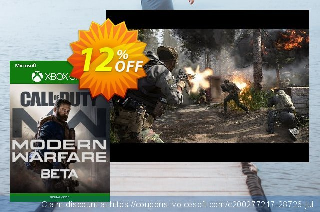 Call of Duty Modern Warfare Beta Xbox One 惊人的 促销 软件截图