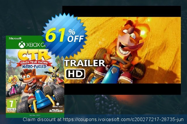 Crash Team Racing Nitro-Fueled Xbox one (UK) 令人吃惊的 产品销售 软件截图