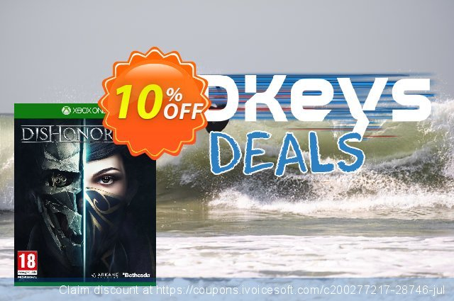 Dishonored 2 Xbox One discount 10% OFF, 2021 Emoji Day offering sales. Dishonored 2 Xbox One Deal