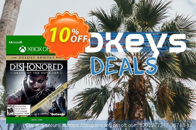 Dishonored: Death of the Outsider - Deluxe Bundle Xbox One 超级的 交易 软件截图