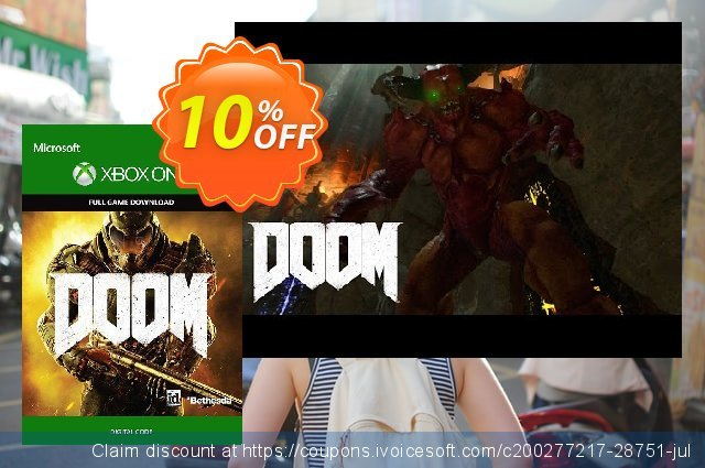 Doom Xbox One discount 10% OFF, 2021 Fourth of July promotions. Doom Xbox One Deal