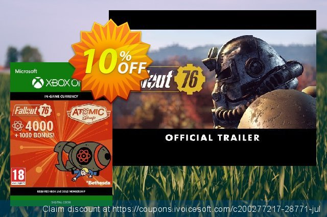 Fallout 76 - 5000 Atoms Xbox One discount 10% OFF, 2020 Halloween discount