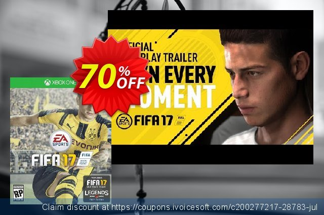 FIFA 17 + DLC Xbox One discount 70% OFF, 2020 Back to School season offering sales