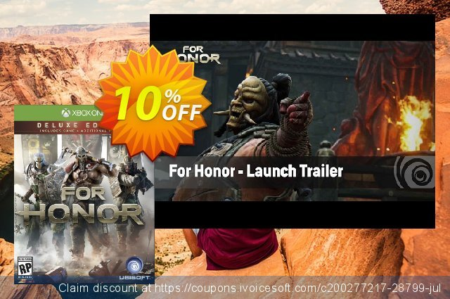 For Honor Deluxe Edition Xbox One 神奇的 产品交易 软件截图