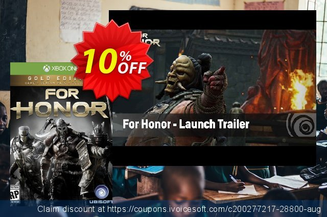 For Honor Gold Edition Xbox One 可怕的 促销销售 软件截图