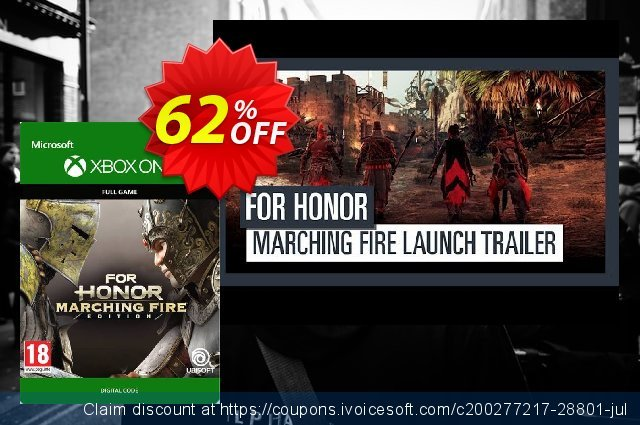 For Honor: Marching Fire Edition Xbox One 令人敬畏的 促销 软件截图