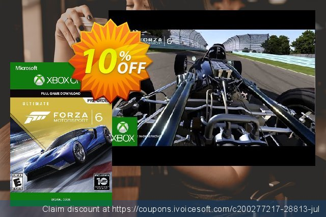 Forza Motorsport 6 Ultimate Edition Xbox One - Digital Code discount 10% OFF, 2020 Halloween promo sales