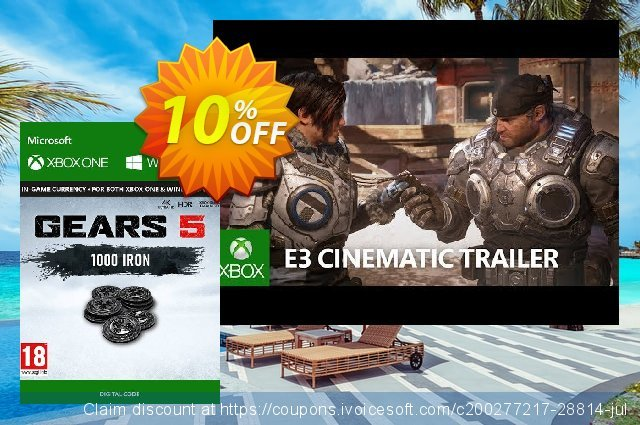 Gears 5: 1,000 Iron Xbox One discount 10% OFF, 2020 College Student deals promo sales