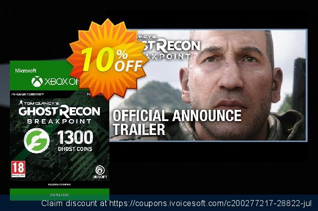 Ghost Recon Breakpoint: 1300 Ghost Coins Xbox One 令人震惊的 销售 软件截图