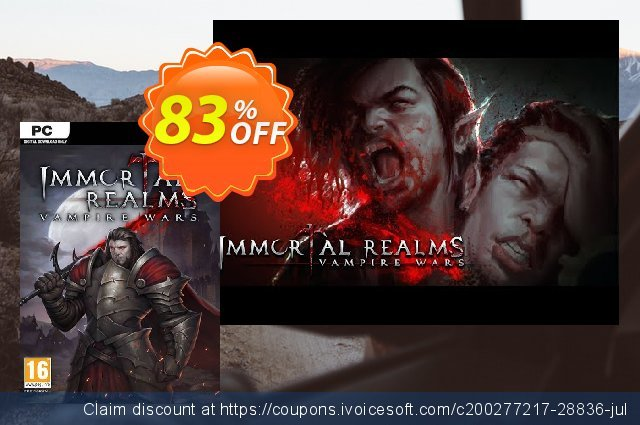 Immortal Realms: Vampire Wars PC (WW) discount 71% OFF, 2021 National No Bra Day offering sales. Immortal Realms: Vampire Wars PC (WW) Deal