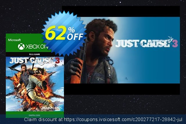 Just Cause 3 Xbox One discount 10% OFF, 2020 Back to School deals offering sales