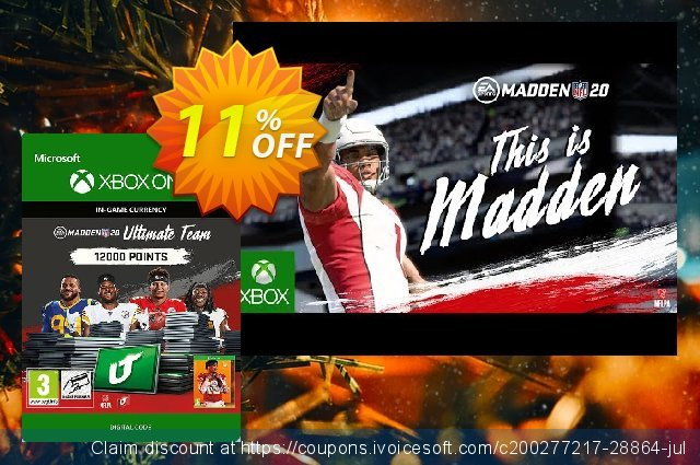 Madden NFL 20 12000 MUT Points Xbox One 超级的 扣头 软件截图