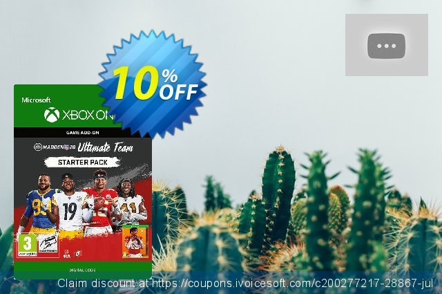 Madden NFL 20: Ultimate Team Starter Pack Xbox One discount 10% OFF, 2020 Thanksgiving offering sales