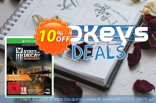 State of Decay: Year-One Survival Edition Xbox One - Digital Code discount 10% OFF, 2020 College Student deals offering sales