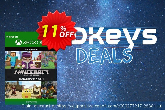Minecraft Builder's Pack Xbox One discount 12% OFF, 2020 Back to School promotion offering sales