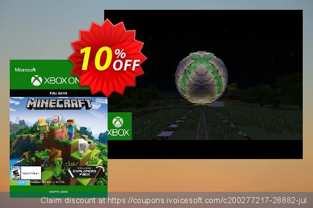 Minecraft Explorers Pack - Xbox One discount 10% OFF, 2020 Back to School event promotions